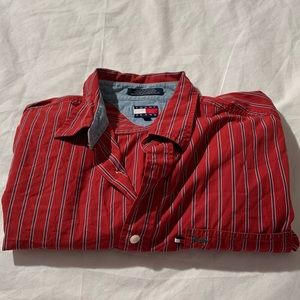Tommy Jeans Size XL Long Sleeve Button Down Shirt